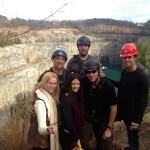 Rigging on the edge of a 300' rock quarry, THE VAMPIRE DIAIRES: Amy Tuttle, Dino Muccio, Jessica Merideth, Bob Fisher, John Gilbert