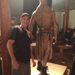 With GOLEM- Derek Mears. SLEEPY HOLLOW